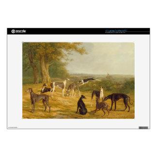 Nine Greyhounds in a Landscape (oil on canvas) Laptop Skin