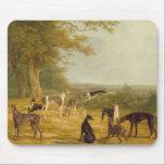 "Nine Greyhounds in a Landscape (oil on canvas) Mouse Pad<br><div class=""desc"">Image:162469  Nine Greyhounds in a Landscape (oil on canvas). Agasse,  Jacques-Laurent (1767-1849). Yale Center for British Art,  Paul Mellon Collection,  USA.  Art,  Fine Art.</div>"