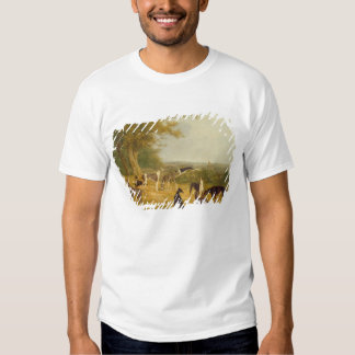 Nine Greyhounds in a Landscape (oil on canvas) T-Shirt