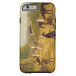 Nine Greyhounds in a Landscape (oil on canvas) Tough iPhone 6 Case