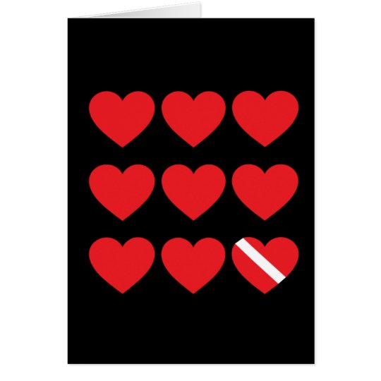 Nine Hearts Card