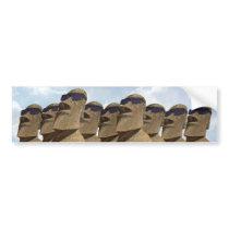Nine Hip Moai - Bumper Sticker