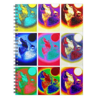 Nine Howling Wolf Portraits Notebook