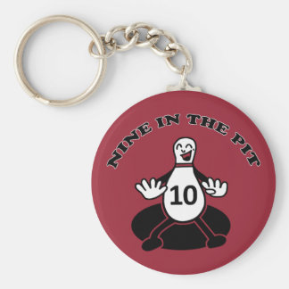 Nine in the Pit Keychain