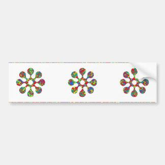 Nine Jewels on NOVINO Artistic Patterns Car Bumper Sticker