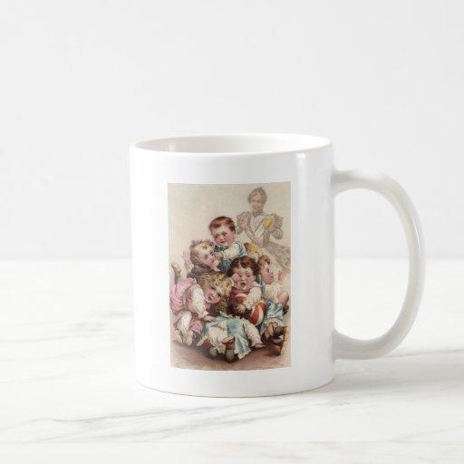 Nine Kids in a Pile Coffee Mugs