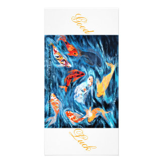 Nine Koi Fish Card