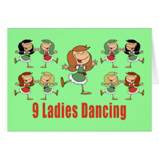 Nine Ladies Dancing Cards