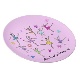Nine Ladies Dancing Decorative Plate