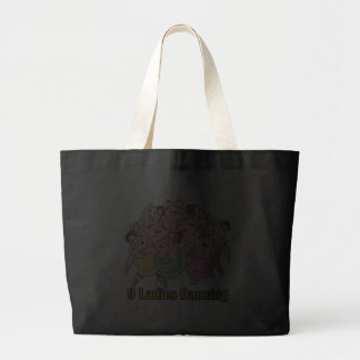 nine ladies dancing ninth 9th day of christmas canvas bags