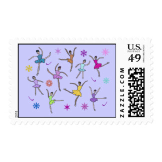 Nine Ladies Dancing Postage Stamps