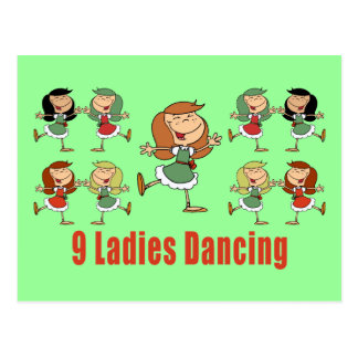 Nine Ladies Dancing Postcards