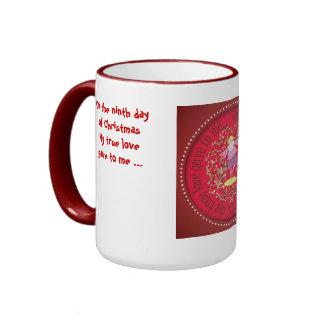 Nine ladies dancing ringer mug