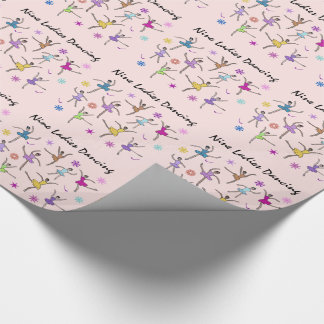 Nine Ladies Dancing Wrapping Paper
