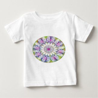 Nine Lightshade Blue n Purple Stars n White Flower T-shirt