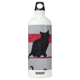 Nine Lives Aluminum Water Bottle