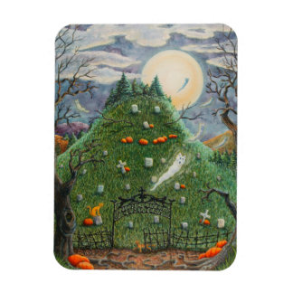 Nine Lives Cemetery DEAD CATS SPOOKY MAGNET