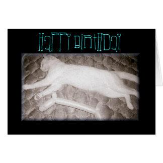 Nine Lives Party Hard Cat Birthday Card