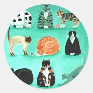 Nine lives classic round sticker