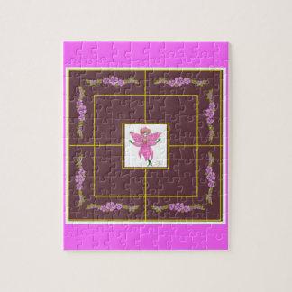 "Nine Men's Morris Game: ""Orchid Fairy"" Jigsaw Puzzles"