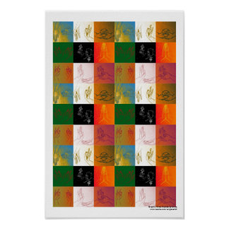 Nine Mudras Poster B