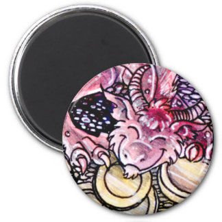 Nine of Coins 2 Inch Round Magnet