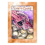 Nine of Coins Large Business Card