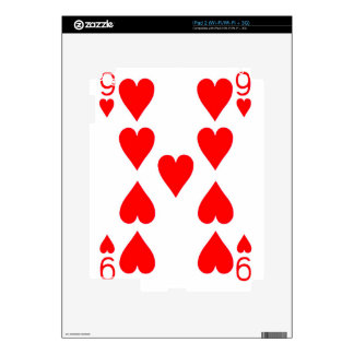 Nine of Hearts Playing Card Decal For The iPad 2