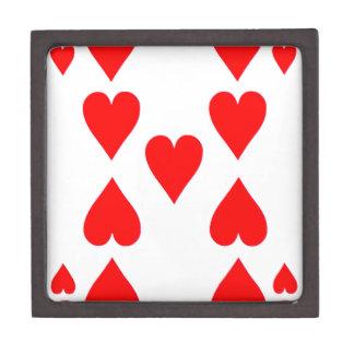 Nine of Hearts Playing Card Gift Box