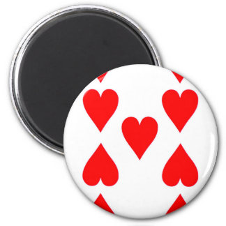 Nine of Hearts Playing Card Magnet