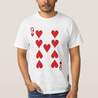 Nine of Hearts Playing Card Shirt