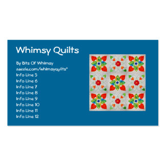 Nine Patch Heart Quilt Double-Sided Standard Business Cards (Pack Of 100)