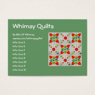 Nine Patch Heart Quilt Business Card