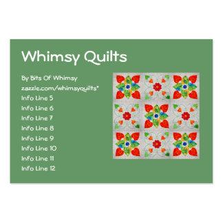 Nine Patch Heart Quilt Business Card Templates
