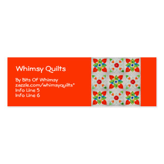 Nine Patch Heart Quilt Double-Sided Mini Business Cards (Pack Of 20)