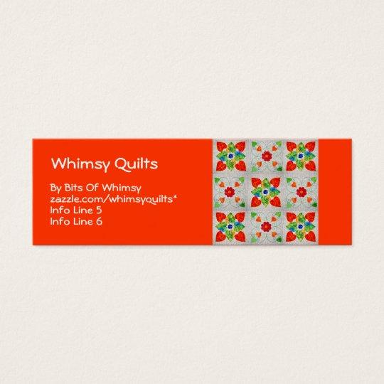 Nine Patch Heart Quilt Mini Business Card