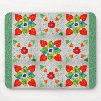 Nine Patch Heart Quilt Mouse Pad