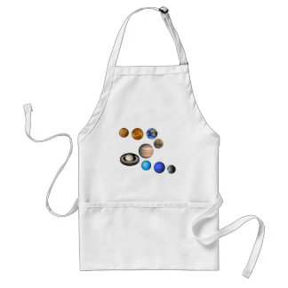 Nine Planets in the Solar System Adult Apron