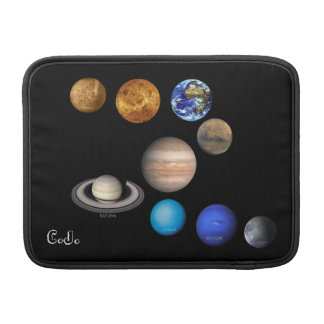 Nine Planets in the Solar System MacBook Sleeve