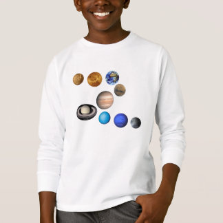 Nine planets in the solar system. Mercury,Venus, T-Shirt