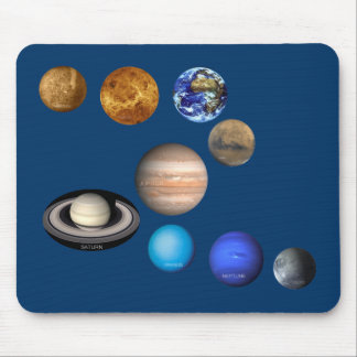 Nine Planets in the Solar System Mouse Pad