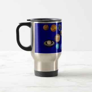 Nine Planets in the Solar System 15 Oz Stainless Steel Travel Mug