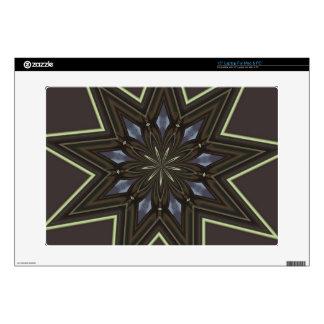 "Nine Pointed Star 15"" Laptop Skin"