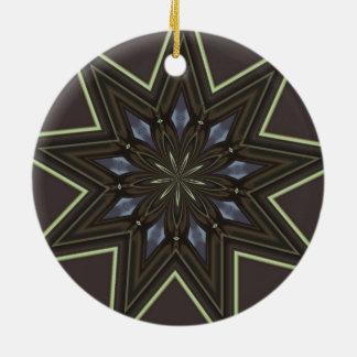 Nine Pointed Star Ceramic Ornament