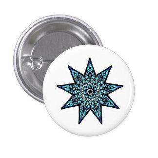 Nine Pointed Star Pinback Button