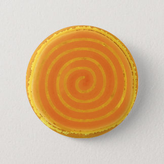 Nine Ray Yellow Spiral Sun Symbol Button