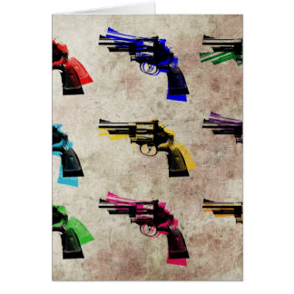 Nine Revolvers Greeting Card