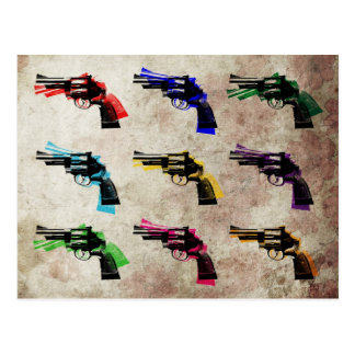 Nine Revolvers Postcard
