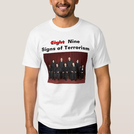 Nine Signs of Terrorism T-shirt