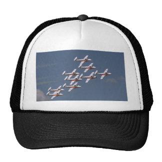 Nine Snowbirds In Close Formation Mesh Hats